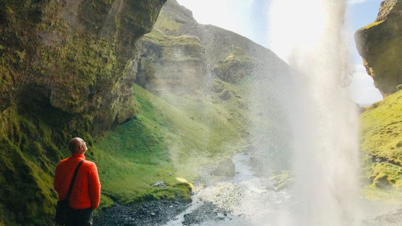 Wasserfall Kvernufoss